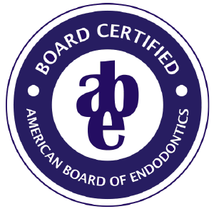 Board Certified, American Board of Endodontics logo